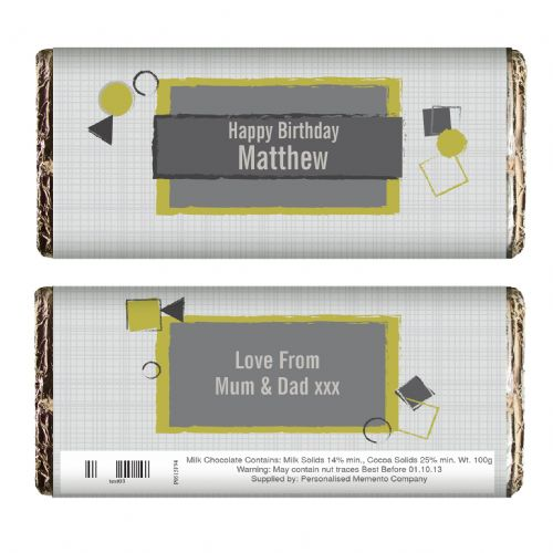 Personalised Retro Style Chocolate Bar
